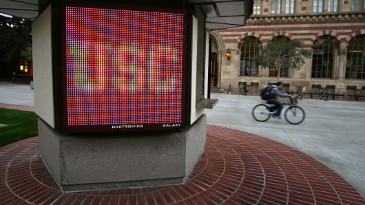 The University of Southern California (USC) campus.