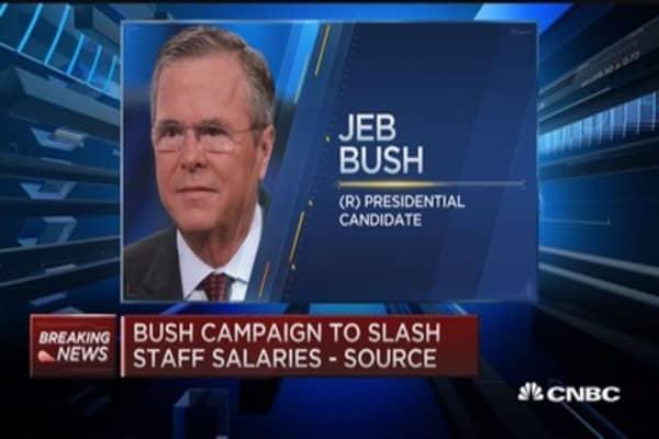 Jeb Bush campaign slashes staff salaries: Sources