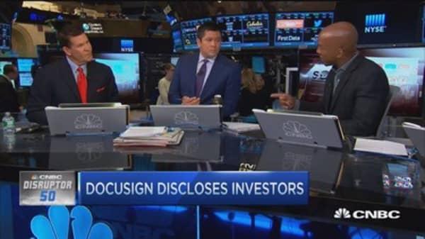 DocuSign discloses investors