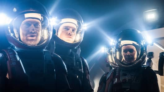 """A still image from the movie """"The Martian."""""""