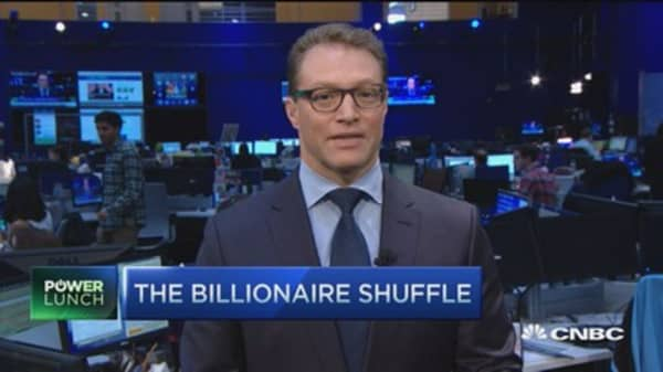 The new world's richest man ... for a bit