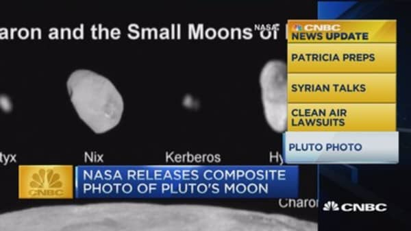 CNBC update: NASA photo of Pluto's moon