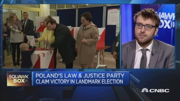 Euroskeptic party wins Poland's election
