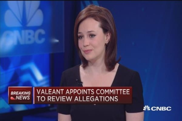 Valeant... people are starting to ask questions: Sonnenfeld