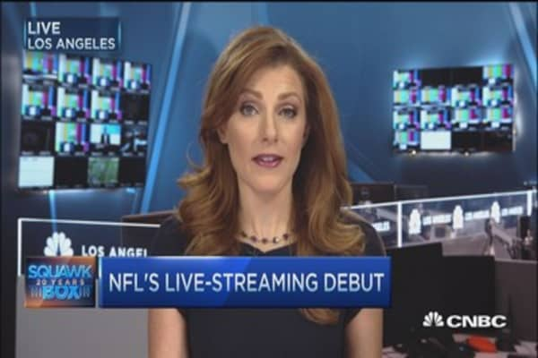 Mixed reviews on Yahoo's NFL streaming debut