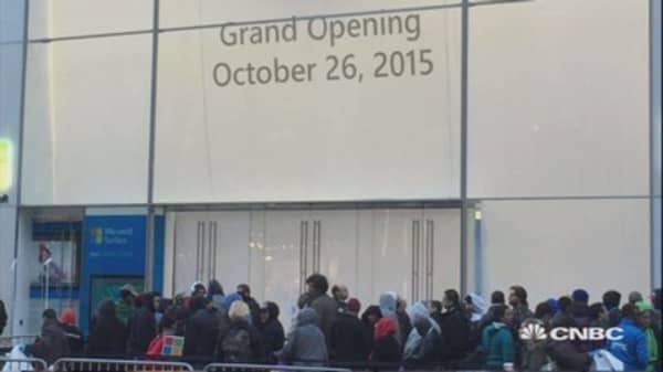 Microsoft store opening