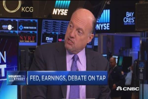 Jim Cramer: 'Rolling bear market' good for S&P