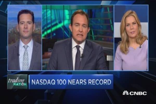 Nasdaq 100 nears all-time high