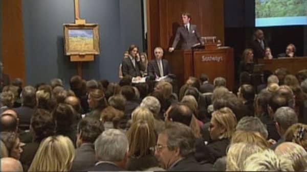 Art auctions move online