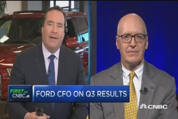 Ford CFO discusses earnings and Trump's confusion