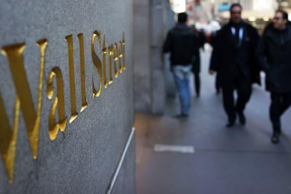 New York's Wall Street.