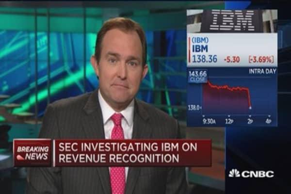 SEC investigating IBM on revenue recognition