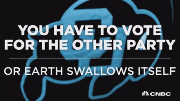 Vote for the other party or Earth swallows itself
