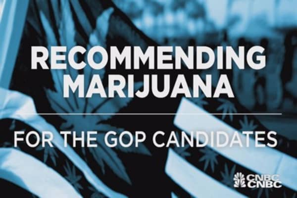 Recommending marijuana to the GOP presidential candidates