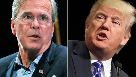 Jeb Bush and Donald Trump