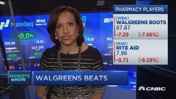 Health care weighs on Nasdaq, tech rises