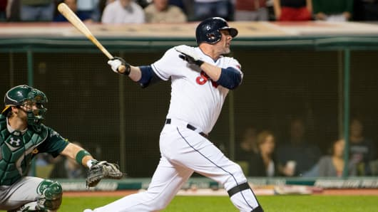 Jason Giambi of the Cleveland Indians in 2013.
