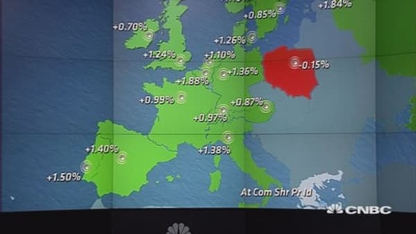 Europe ends 1% up on oil rally, earnings; Fed eyed
