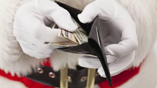 Santa in a wallet