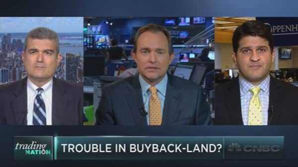 Biggest buybackers slip
