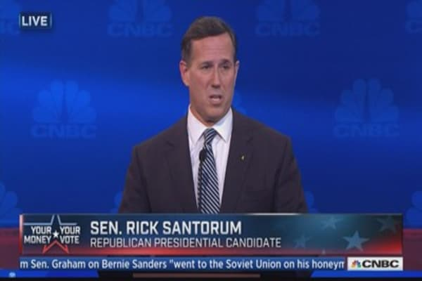 Santorum: Concerned about consolidation in health insurance