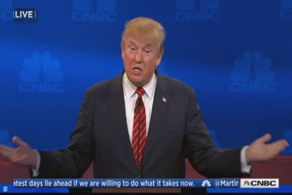 Donald Trump: Boy am I good at solving debt problems