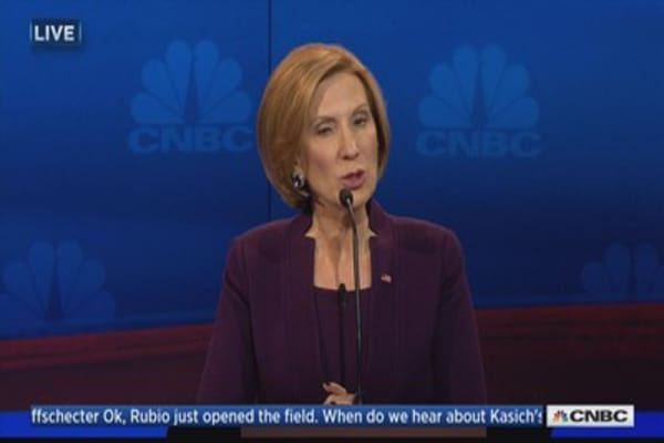 Fiorina: Obama's policies demonstrably bad for women