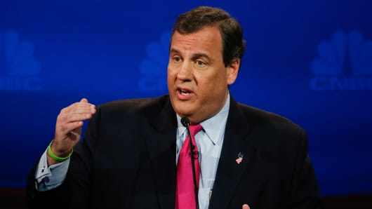 GOP Republican Candidate Chris Christie