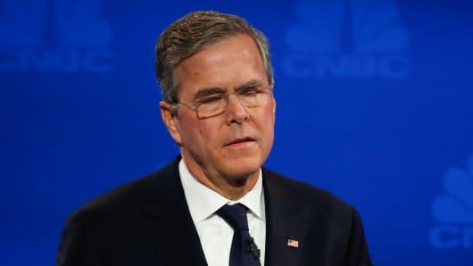 Jeb Bush at the CNBC GOP Debate in Boulder, Colorado.