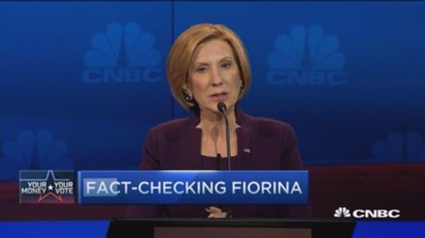 Debate fact patrol: Fiorina and Rubio