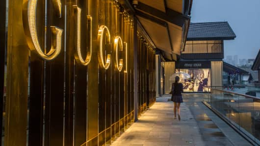 A Gucci shop in Chengdu, China.