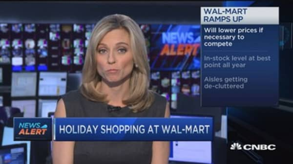 Wal-Mart's holiday goals