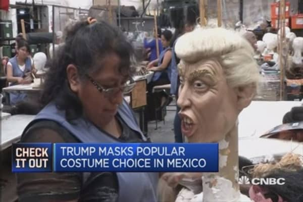 Donald Trump masks prove a hit in Mexico