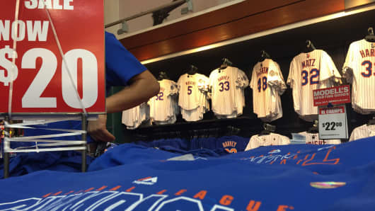 Mets merchandise at Modell's