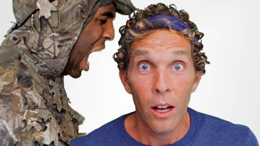 """Seal"" and Jesse Itzler. (Crop of the book cover of ""Living With a Seal."" Courtesy of Center Street/Hachette. Jacket photograph courtesy of Deana Levine.)"