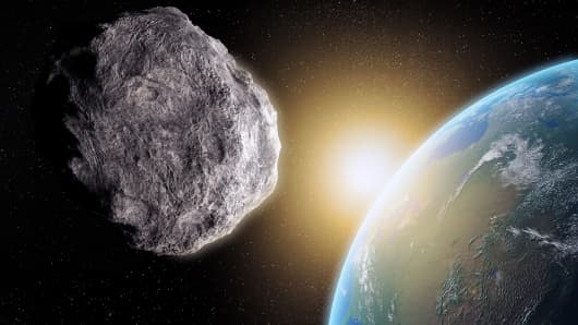 Rendering of an asteroid. NASA will be monitory an asteroid that is set to pass Earth on Halloween.