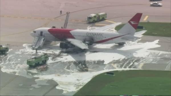 Dynamic Airways plane catches fire
