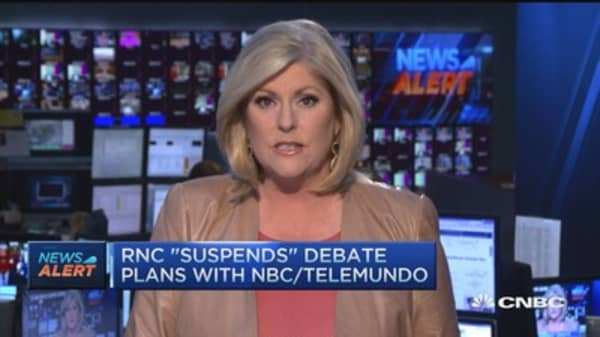 RNC 'suspends' debate plans with NBC/Telemundo