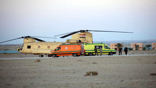 Russian airliner crashes in Egypt's Sinai.