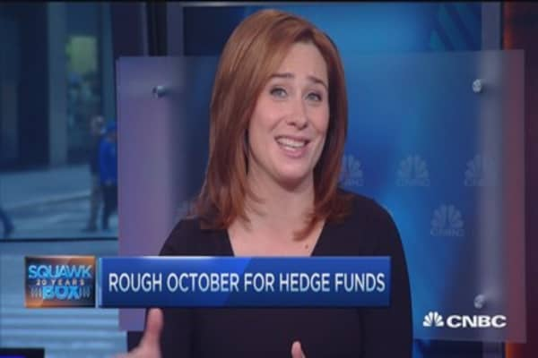 Painful October for many hedge funds