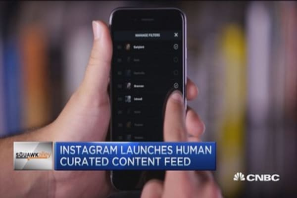 Instagram's new curated feature