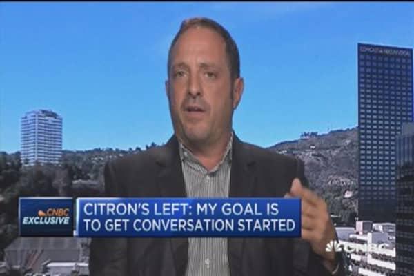 Citron: Valeant should be focus, not us