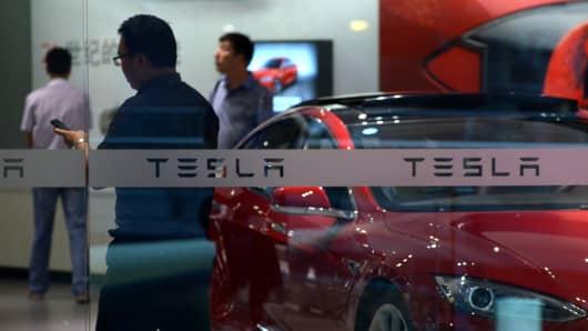 Tesla showroom in Beijing, China