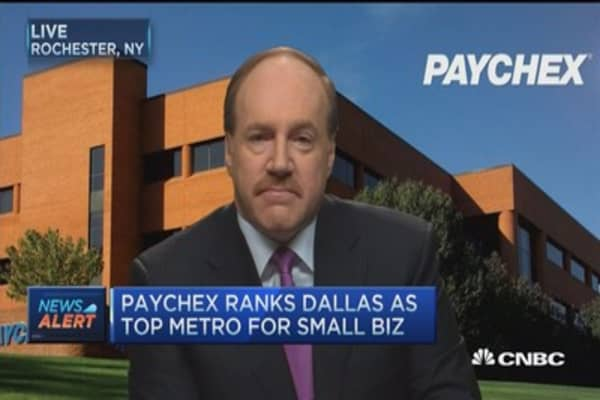 Paychex CEO: Employment growth 'leveling out'