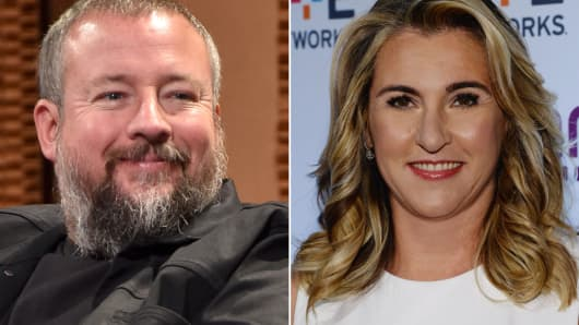 Vice Founder and CEO Shane Smith and A&E Networks president and CEO Nancy Dubuc.