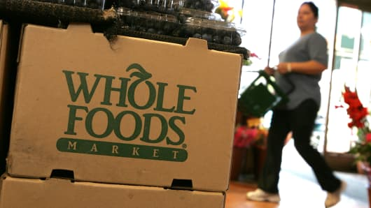 The Whole Foods box at a Whole Foods Market in San Francisco, California.