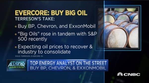 Evercore: Buy big oil