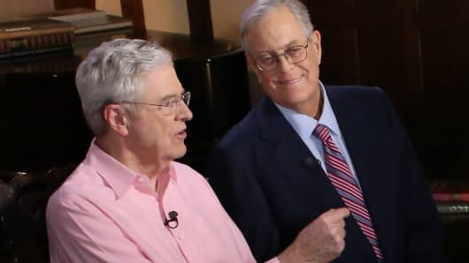 koch brothers network breaks with trump over china trade war