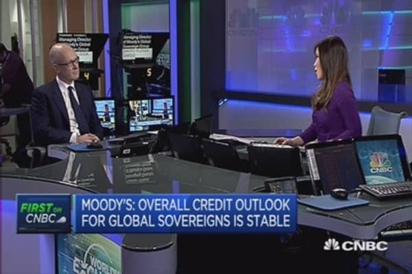 Sovereign credit ratings to remain stable: Moody's