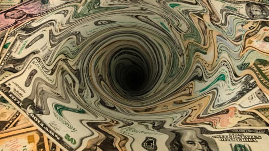 Money drain whirlpool